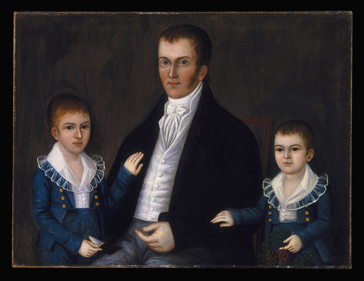 Joshua Johnson, John Jacob Anderson and Sons, John and Edward, ca. 1812-15. Courtesy of Brooklyn Museum.