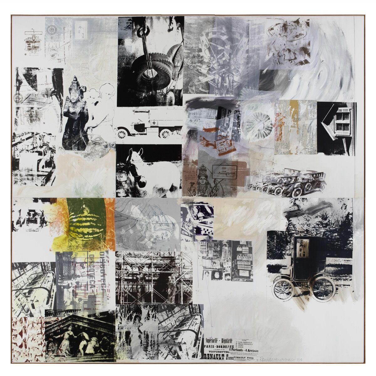 Robert Rauschenberg, Rollings (Salvage), 1984. Courtesy of Thaddaeus Ropac.