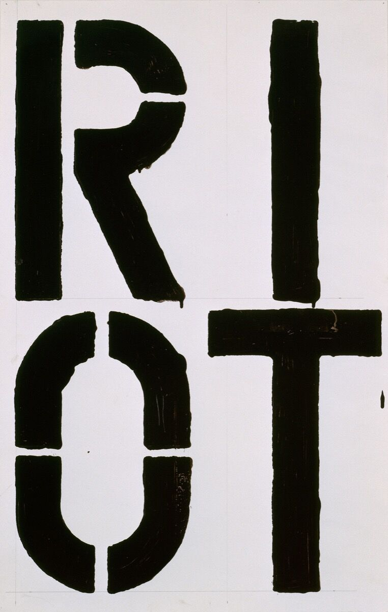 Christopher Wool, Riot, 1987. © Christopher Wool. Courtesy of the artist and Luhring Augustine, New York.