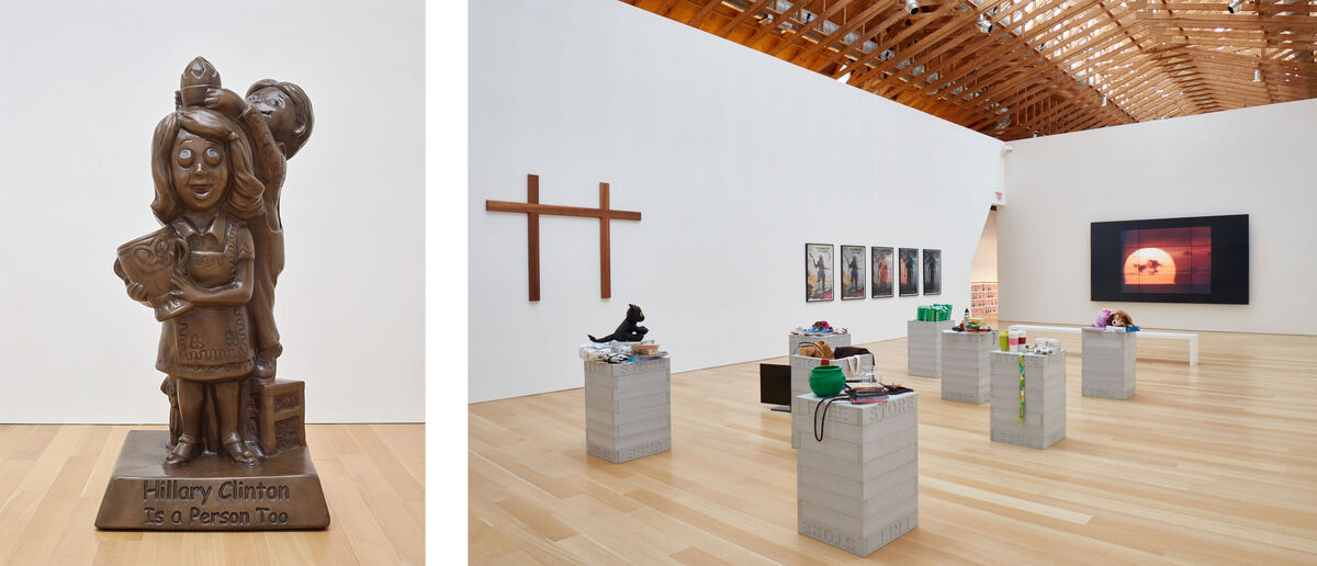 """Installation views of """"Jonathan Horowitz: Occupy Greenwich"""" at the Brant Foundation, 2016. Photos: Tom Powel Imaging, Inc. Courtesy of the Brant Foundation, Greenwich, CT."""