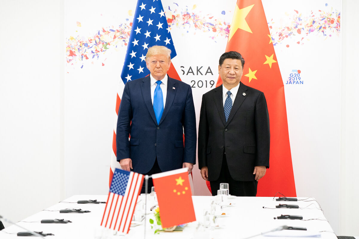 President Donald J. Trump joins Xi Jinping, President of the People's Republic of China, at the start of their bilateral meeting Saturday, June 29, 2019, at the G20 Japan Summit in Osaka, Japan. Photo by Shealah Craighead, via Flickr.