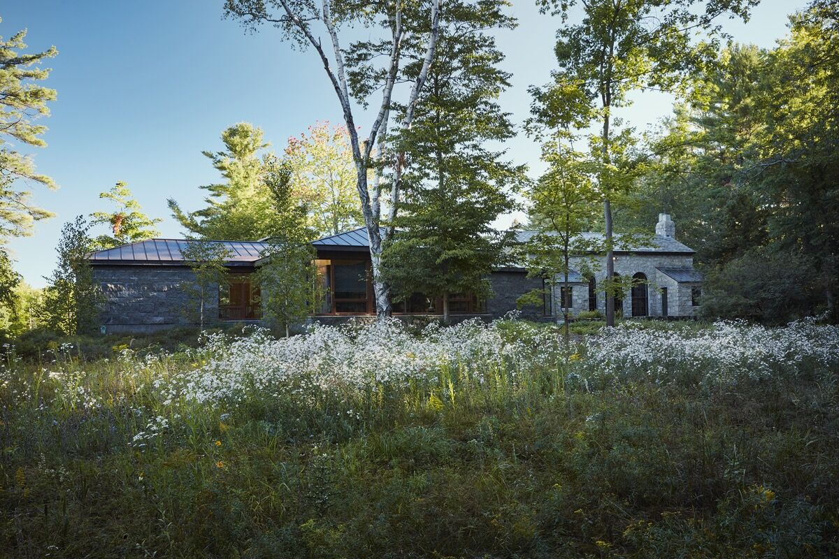Exterior view of the MacDowell Colony's James Baldwin Library. Photo by Ngoc Minh Ngo. Courtesy of the MacDowell Colony.