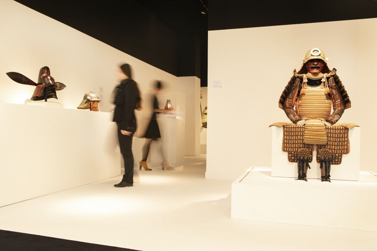 Installation view of Jean Christophe's booth at TEFAF Maastricht, 2020. Courtesy of Jean Christophe and TEFAF Maastricht.