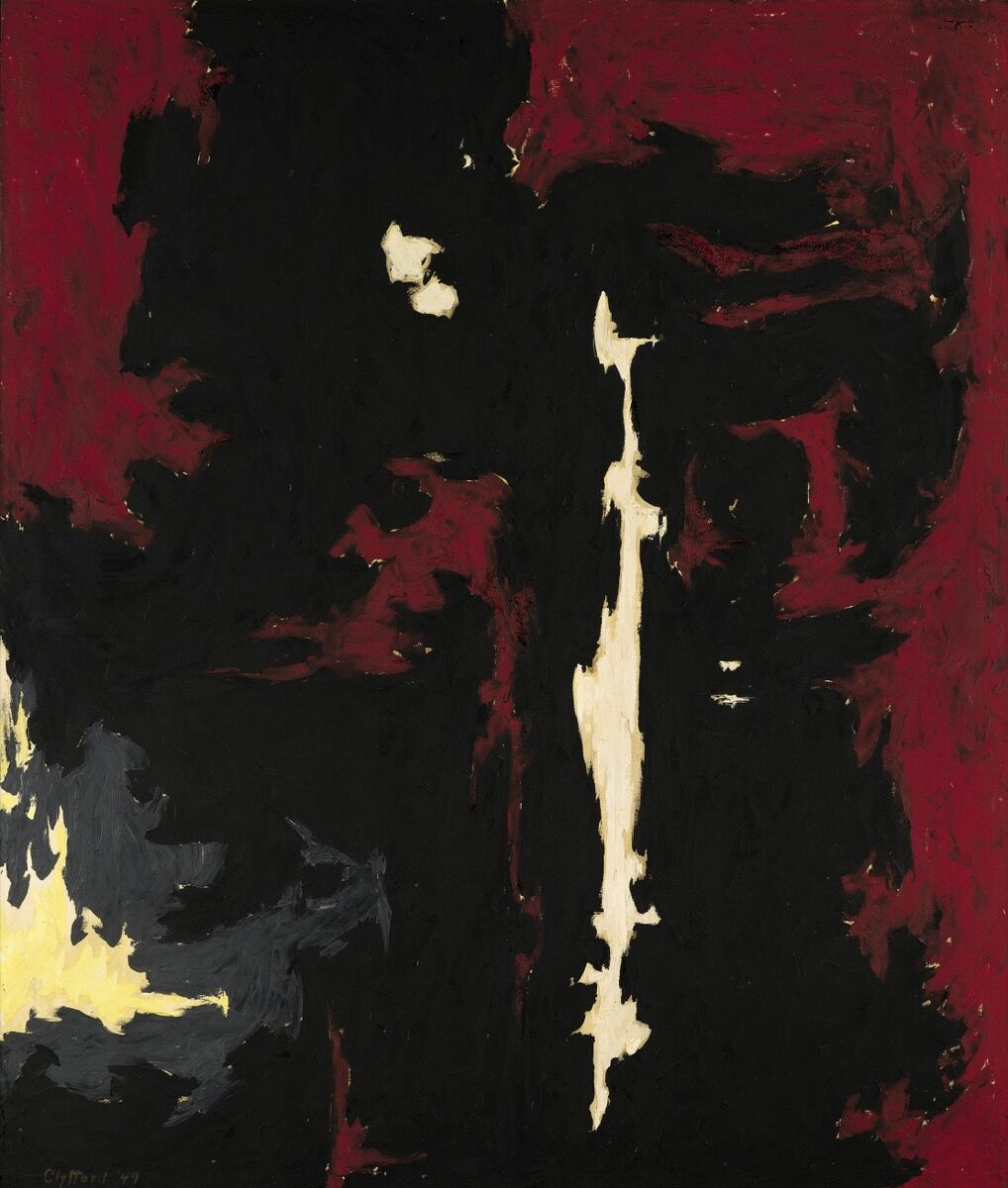 Clyfford Still, PH-399, signed twice and dated 1946. Courtesy of Sotheby's.