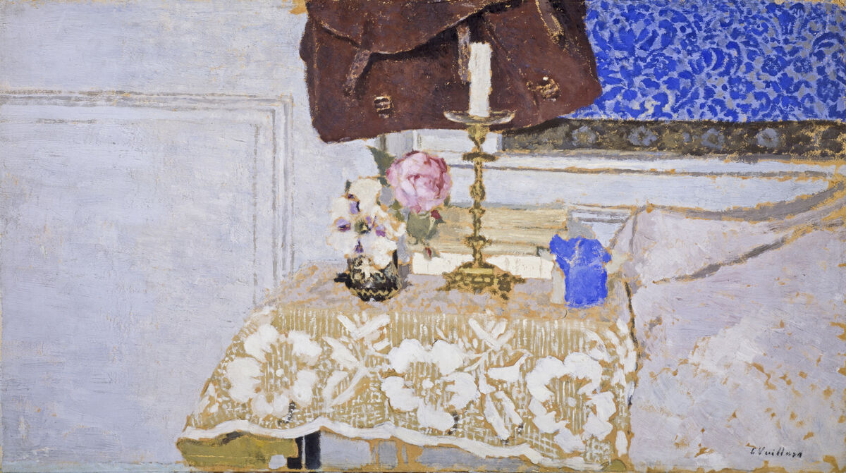 Édouard Vuillard, The Candlestick, c. 1900. Photo by Antonia Reeve. Courtesy of the National Galleries of Scotland and the Holburne Museum.