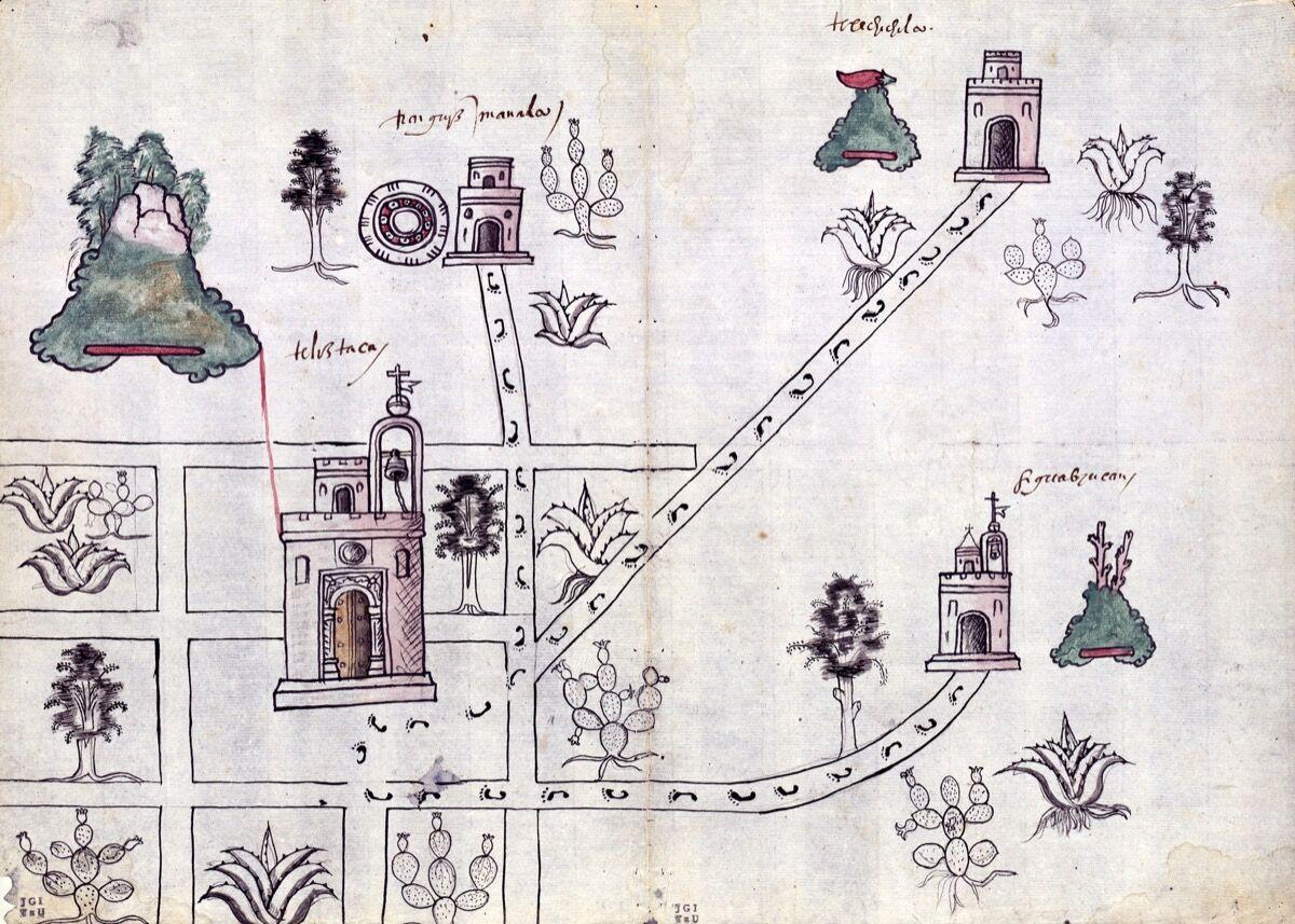Unknown Artist, Tetliztaca, Mexico, 1581. Courtesy of the Blanton Museum of Art.