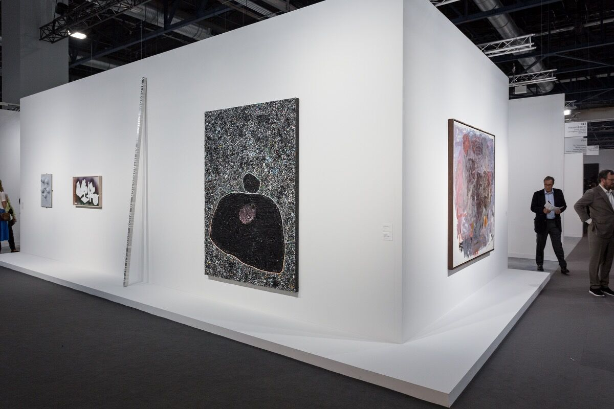 Installation view ofHauser & Wirth's booth at Art Basel in Miami Beach, 2016. Photo by Alain Almiñana for Artsy.