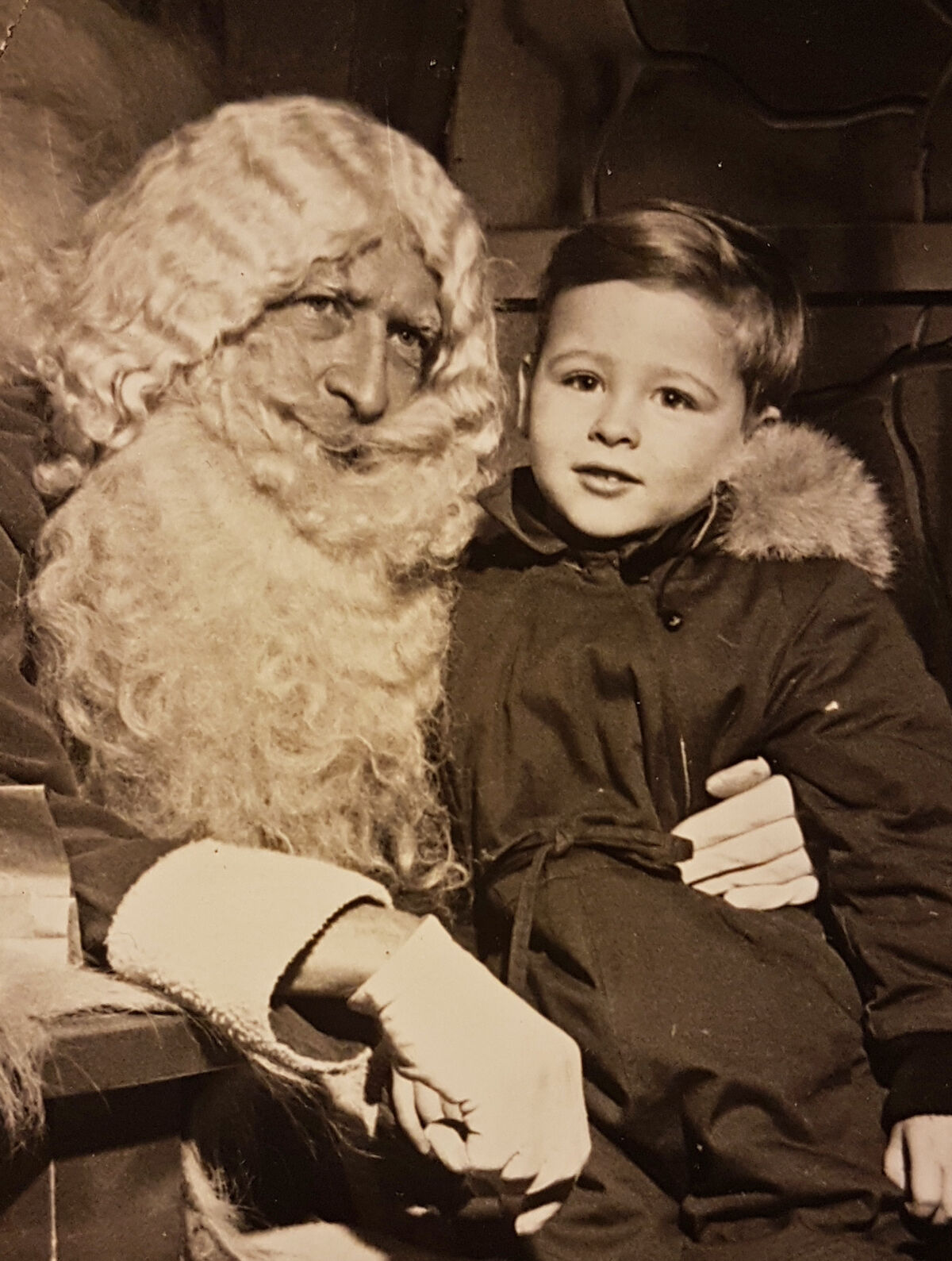 Portrait of AA Bronson with Santa Claus in Edmonton, Canada, 1951. Courtesy of the artist.