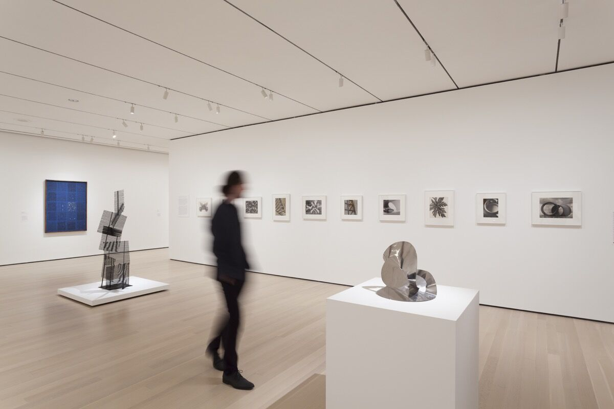 """Installation view of """"Making Space: Women Artists and Postwar Abstraction."""" The Museum of Modern Art, New York, April 15–August 13, 2017. © 2017 The Museum of Modern Art. Photo by Jonathan Muzikar, courtesy of the Museum of Modern Art."""