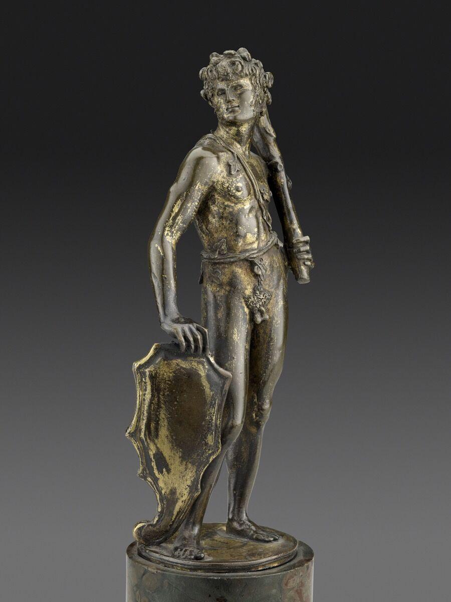 Bertoldo di Giovanni, Shield Bearer, ca. 1470–80. Photo by Michael Bodycomb. Courtesy of the Frick Collection, New York.
