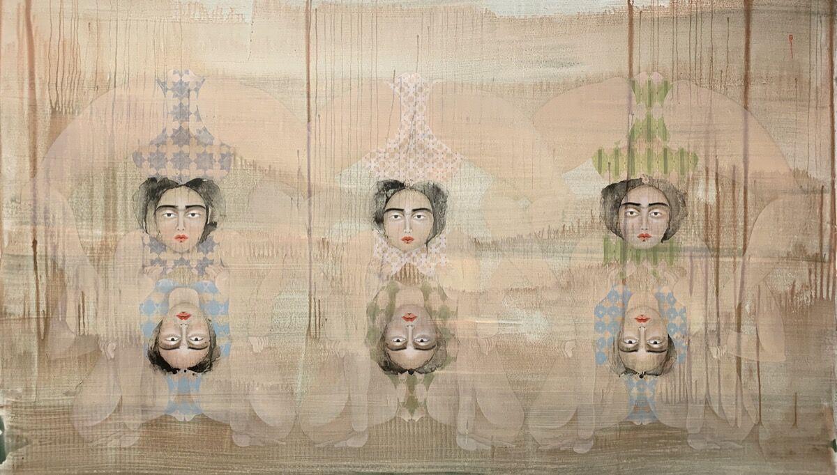 Hayv Kahraman, 6 Bends, 2020. © Hayv Kahraman. Courtesy of the artist and Jack Shainman Gallery, New York.
