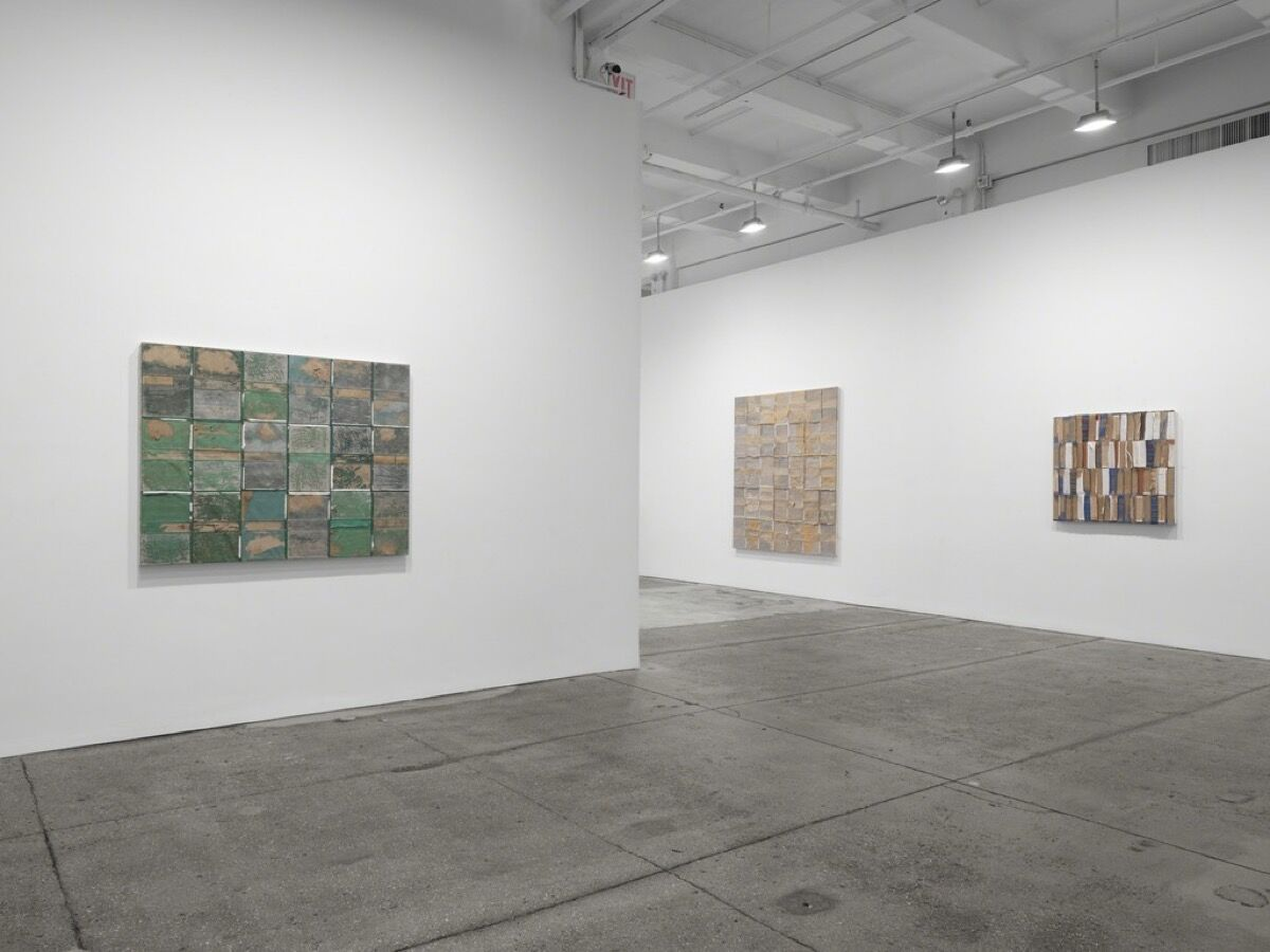 "Installation view of ""Burning all illusion,"" courtesy of Galerie Lelong."
