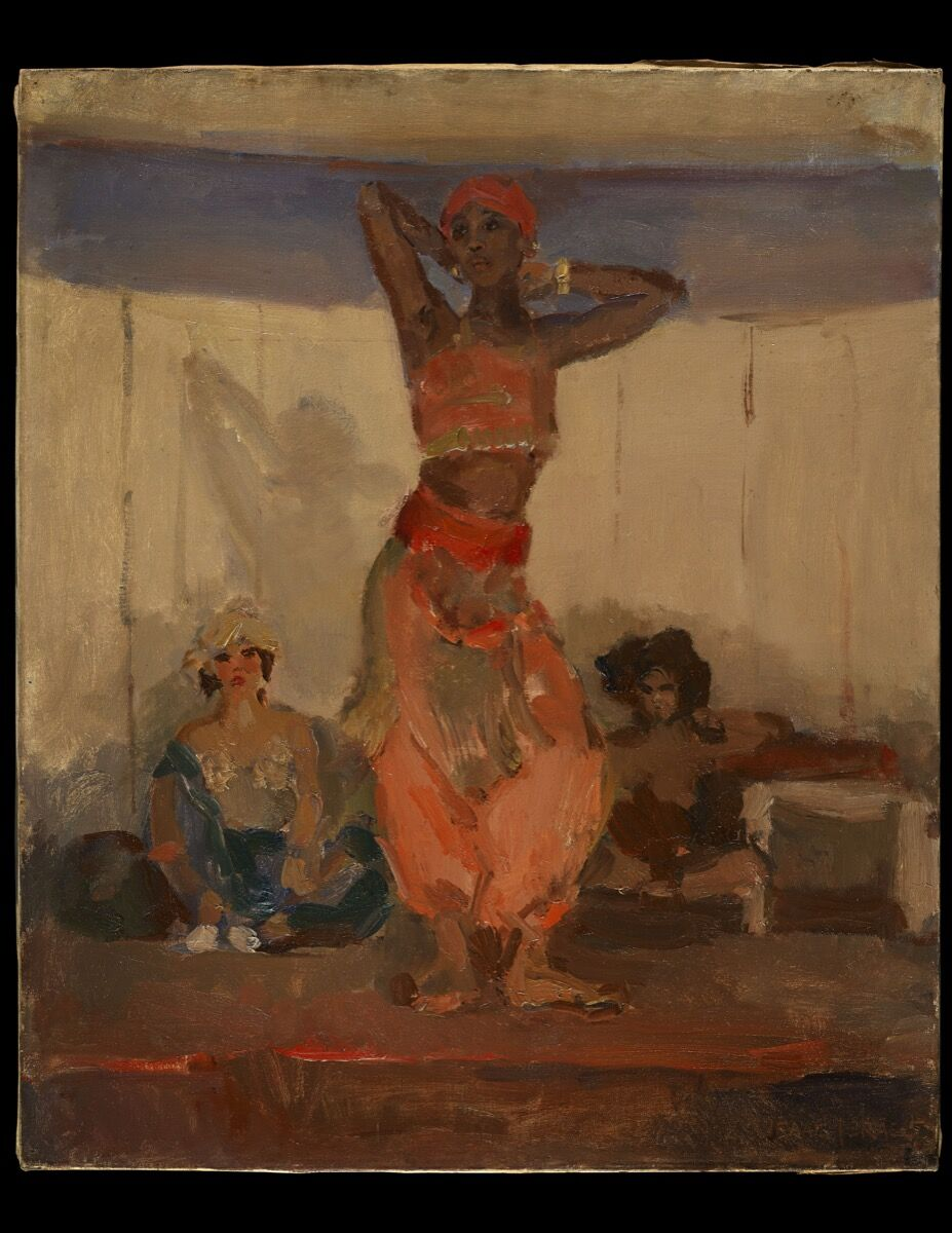 Isaac Lazarus Israels, Javanese Dancer, c. 1915. Courtesy of Daniel Katz Ltd.