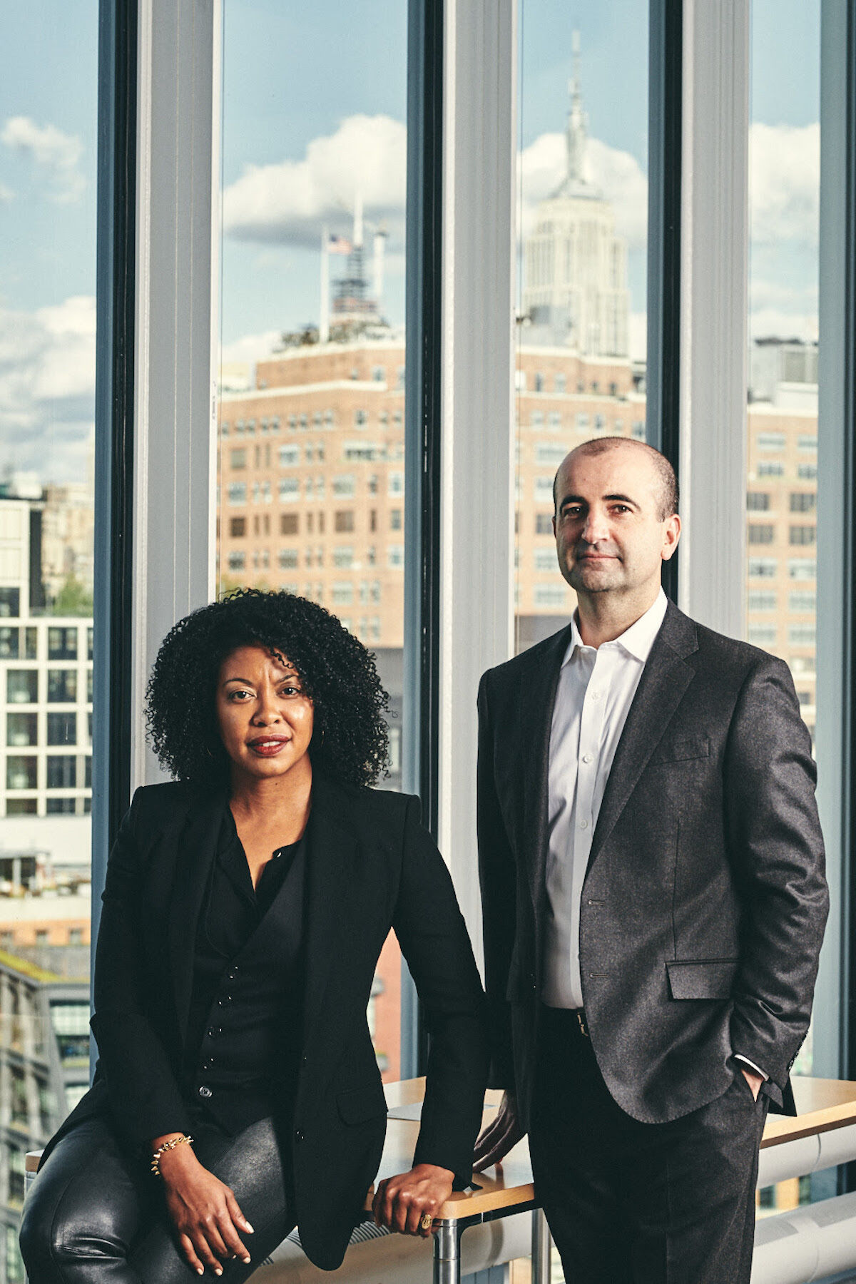 David Breslin and Adrienne Edwards, who will co-curate the 2021 Whitney Biennial. Photo by Bryan Derballa. Courtesy the Whitney Museum of American Art.