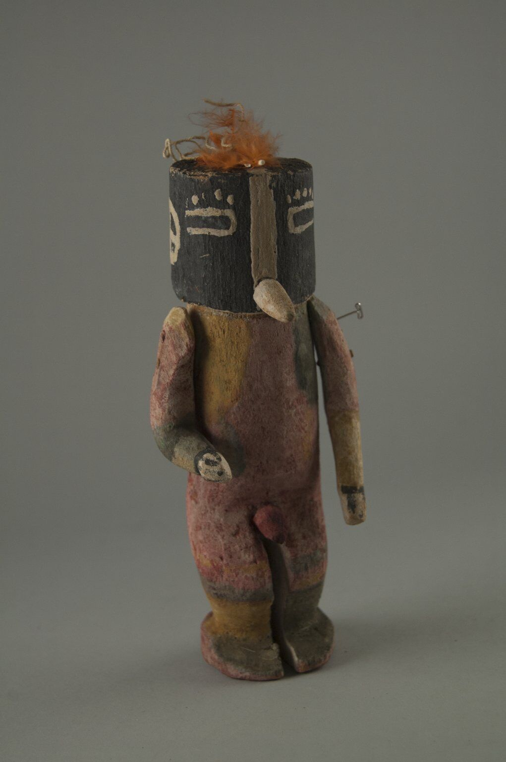Hopi Pueblo (Native American), Kachina Doll (Kokopol, Kokopelli), late 19th century. Photo via the Brooklyn Museum.
