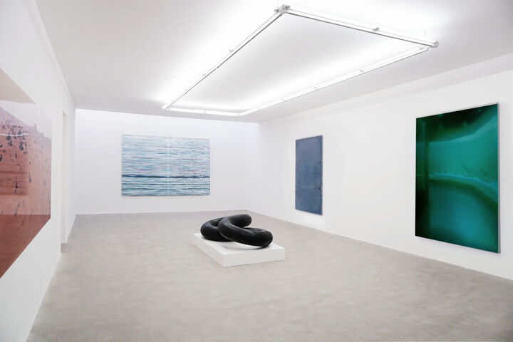 """Installation view of """"You, I, Among us"""" courtesy of de Sarthe Gallery"""