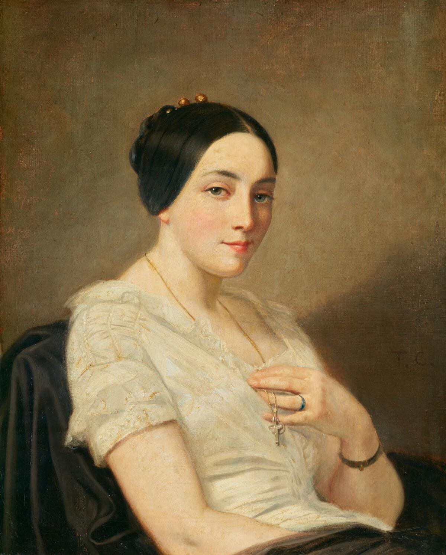 Thomas Couture, Portrait of a Seated Woman, 1850–55. Image © Mick Vincenz, © Kunstmuseum Bern und Kunst- und Ausstellungshalle der Bundesrepublik Deutschland GmbH.
