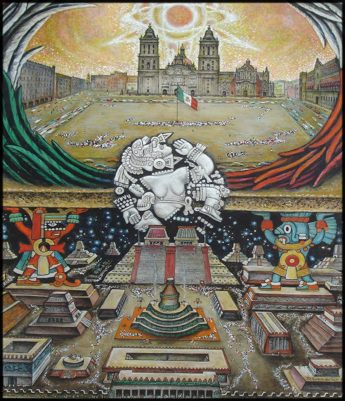 Roberto Cueva Del Río, Fundación Tenochtitlan, 1986. Imagen a través de Wikimedia Commons.