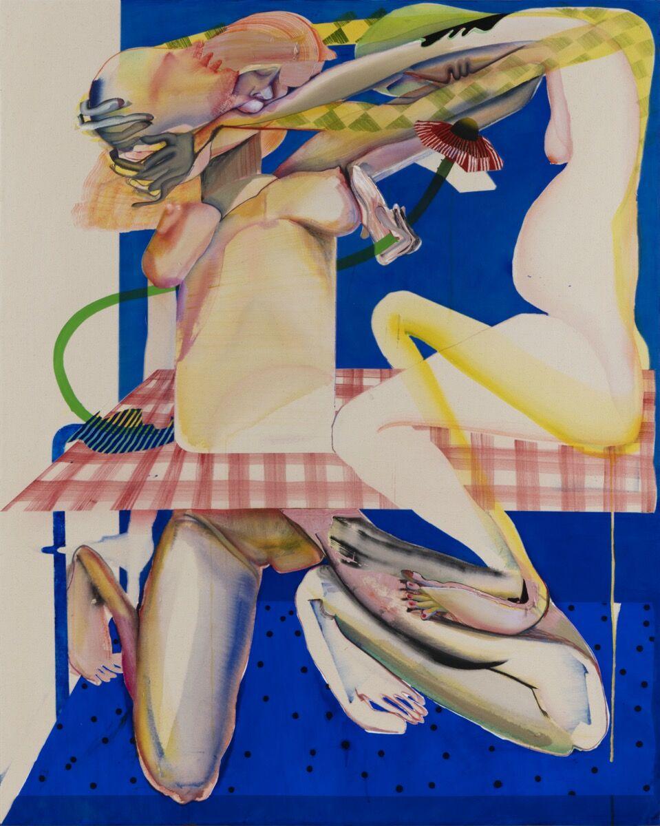 Christina Quarles, Pour Over, 2019. © Christina Quarles. Courtesy of Regen Projects, Los Angeles; and Pilar Corrias, London.