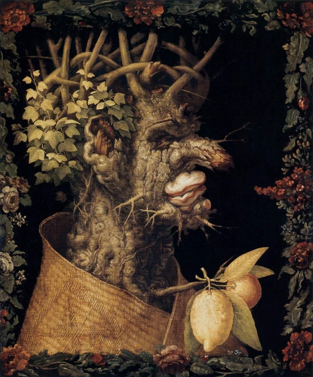 Giuseppe Arcimboldo, Winter, 1573. Photo via Wikimedia Commons.