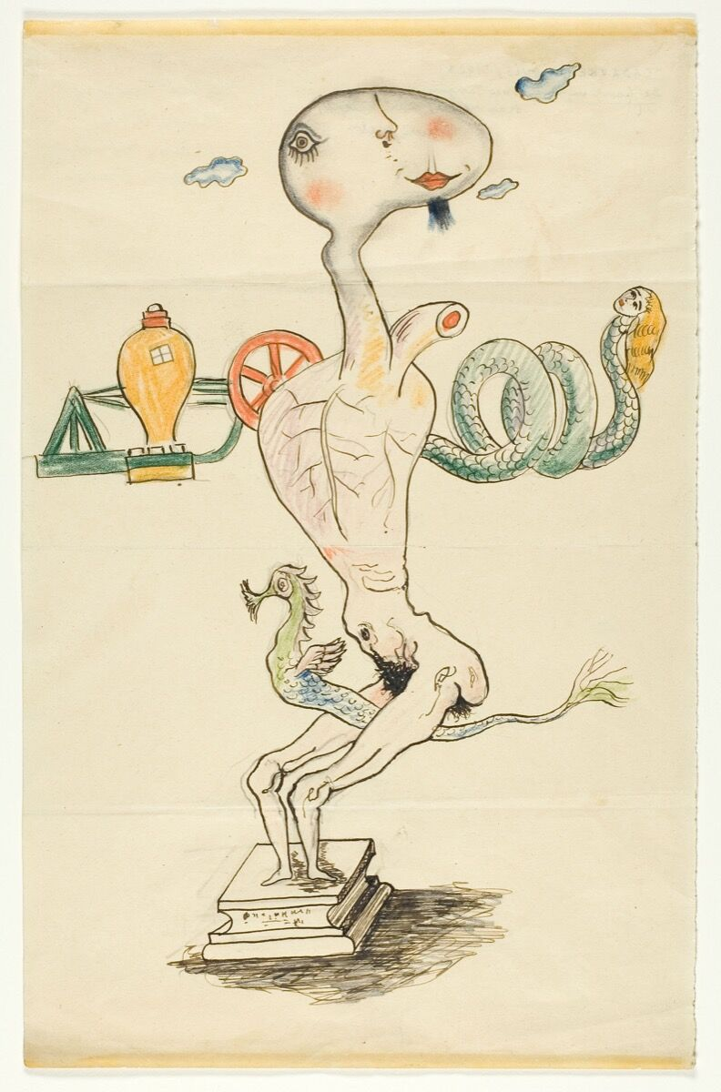 Man Ray (Emmanuel Radnitzky), André Breton, Yves Tanguy, and Max Morise, Exquisite Corpse, 1928. © 2018 Man Ray Trust / Artists Rights Society (ARS), New York / ADAGP, Paris. Courtesy of the Art Institute of Chicago.