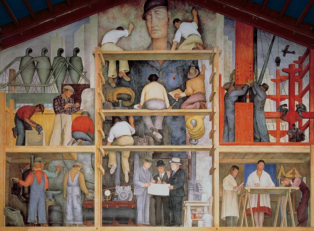 Diego Rivera mural at San Francisco Art Institute. Photo by Joaquín Martínez via Flickr.