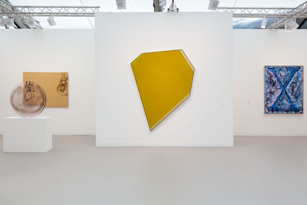 Installation View of Almine Rech's booth at Frieze London, 2019. Photo by Melissa Castro Duarte.