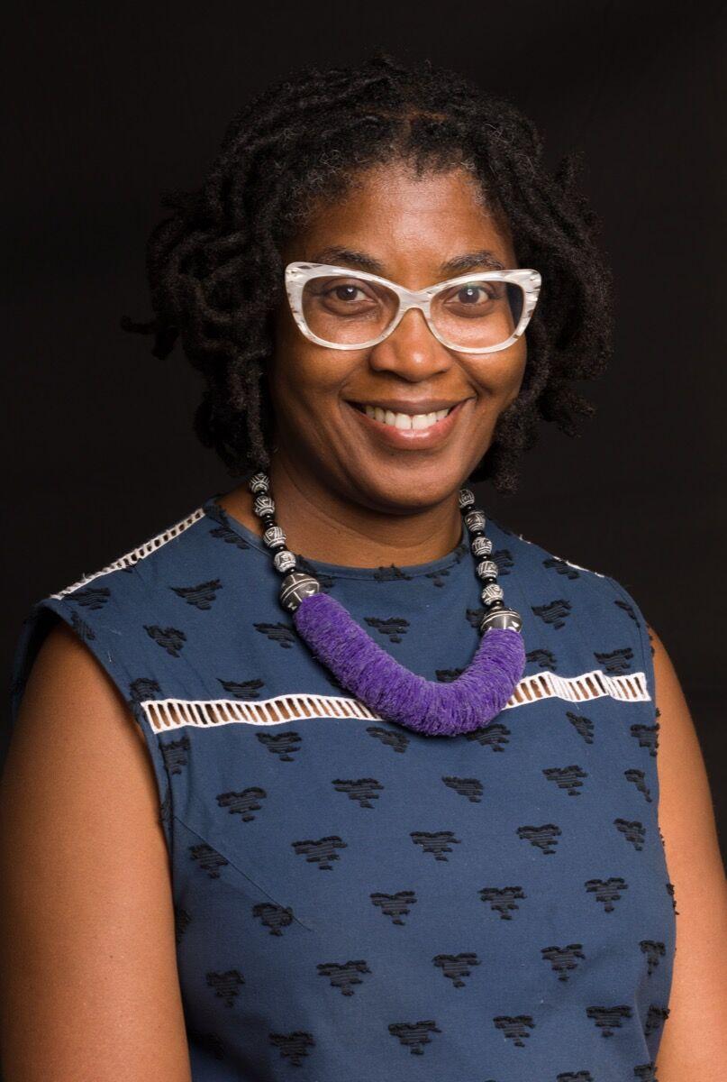 Portrait of Laundromat Project Executive Director Kemi Ilesanmi by Dread Scott. Courtesy of Kemi Ilesanmi.