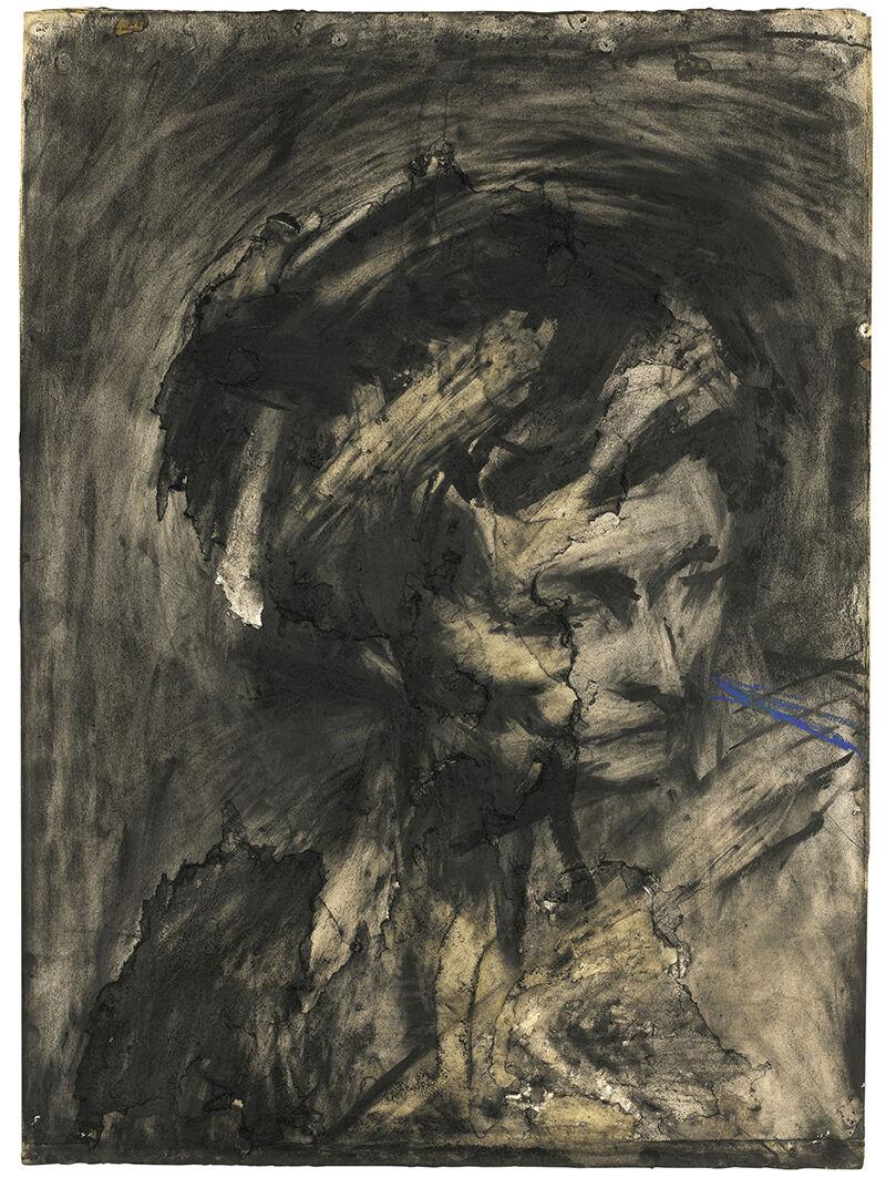 Frank Auerbach, Head of Gerda Boehm (1961). Courtesy Sotheby's London.