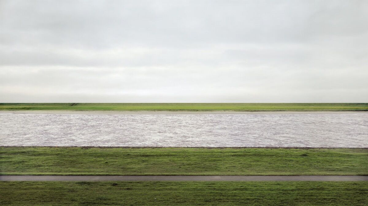 Andreas Gursky, Rhine II, 1999. Courtesy of Andreas Gursky and VG BILD-KUNST, Bonn. Courtesy of Prestel Publishing.