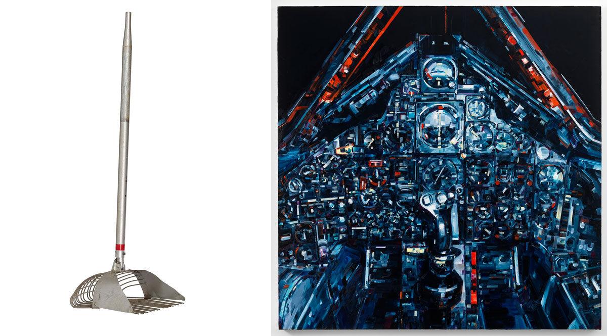 Left:Andrew Zuckerman, Mockup Lunar Rake Used for Training, 1969; Right: Michael Kagain, Blackbird, 2014. Images courtesy of Children's Museum of the Arts.