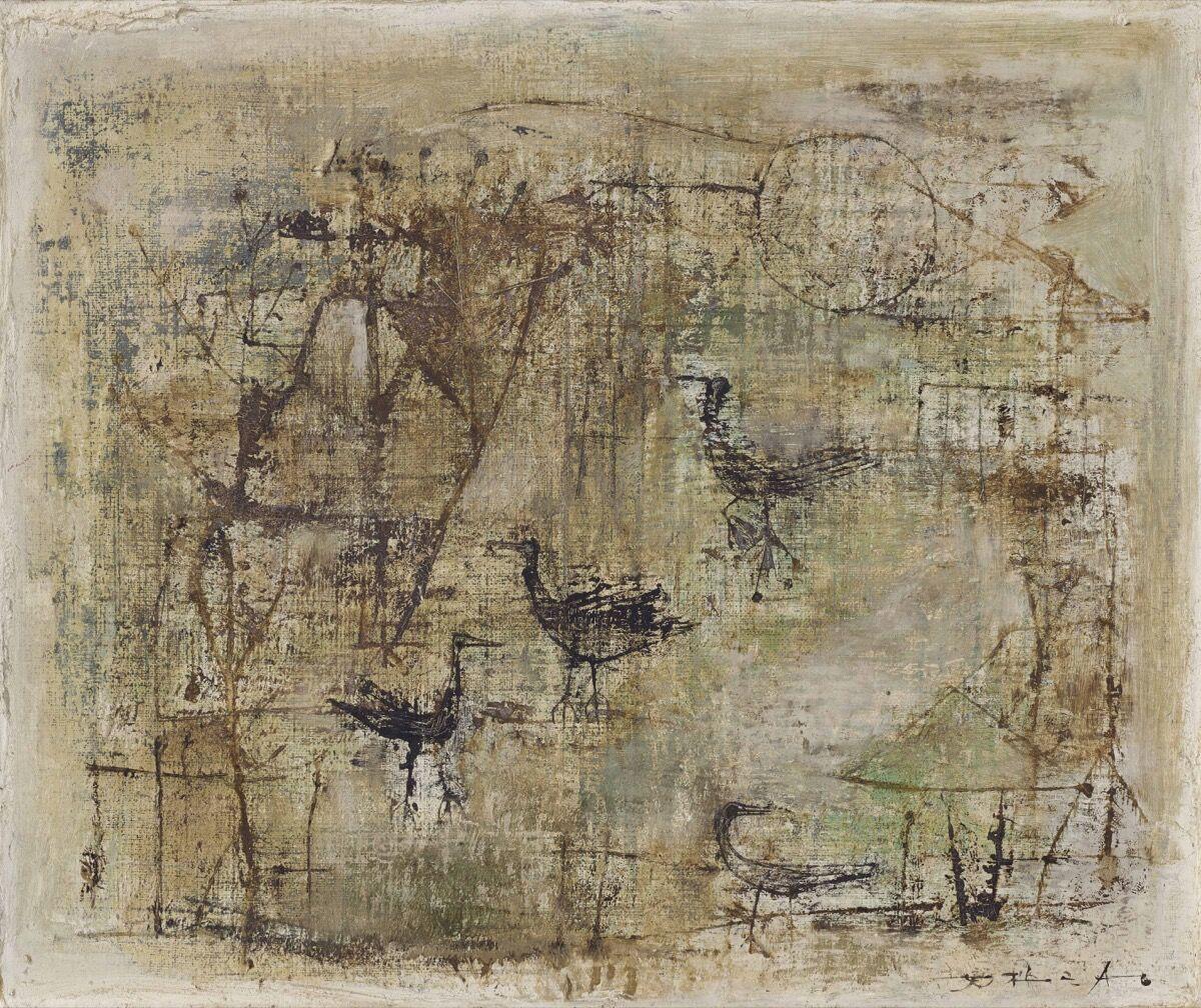 Zao Wou-Ki, Untitled, 1950–51. Courtesy Christie's Images Ltd.