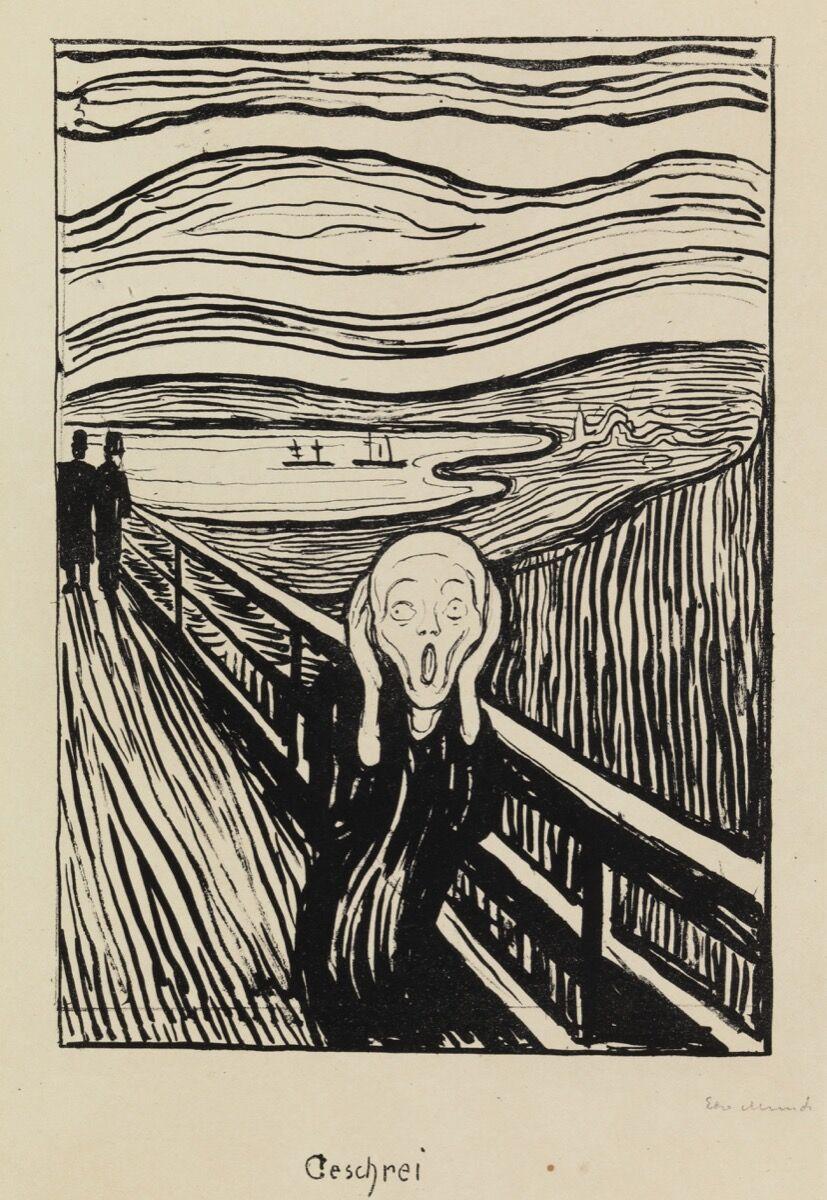 Edvard Munch, The Scream, 1895. Courtesy of David Tunick, Inc.