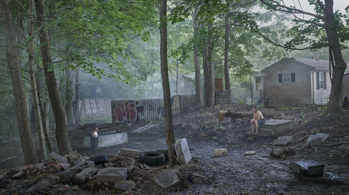 Gregory Crewdson, Funerary Back Lot, 2018–19. © Gregory Crewdson. Courtesy of Gagosian.