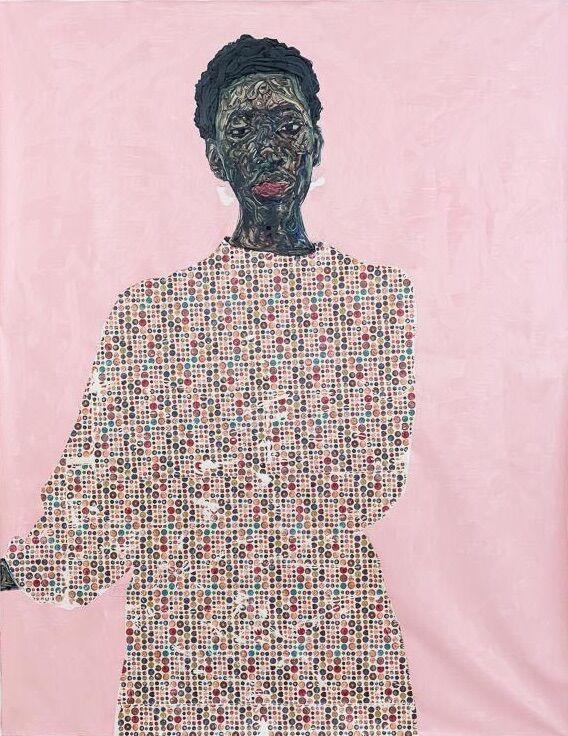 Amoako Boafo, Neurke, 2020. Courtesy of the artist and Mariane Ibrahim.