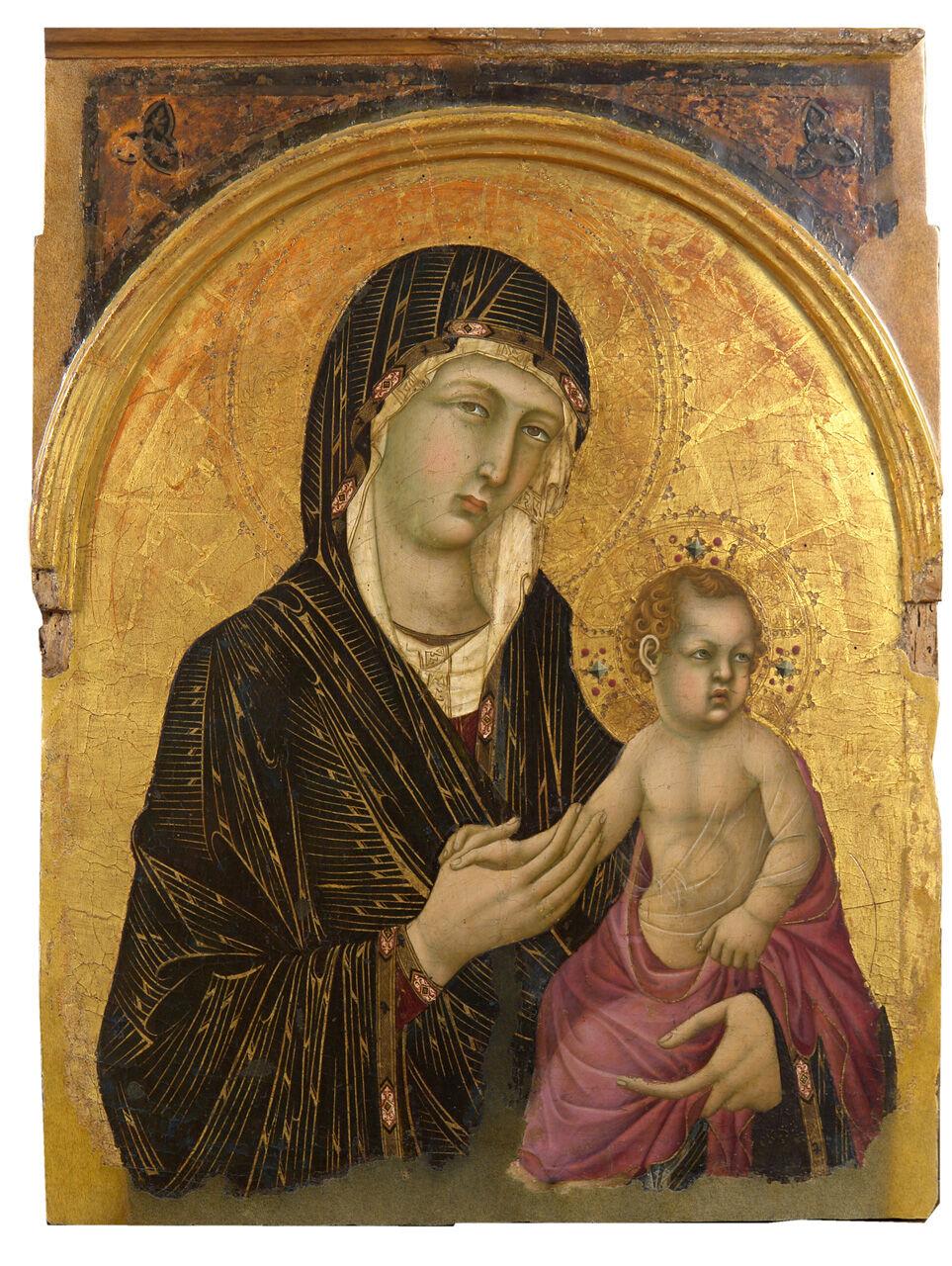 Simone Martini, Madonna col Bambino n.583, 1305–10. Image via Wikimedia Common.