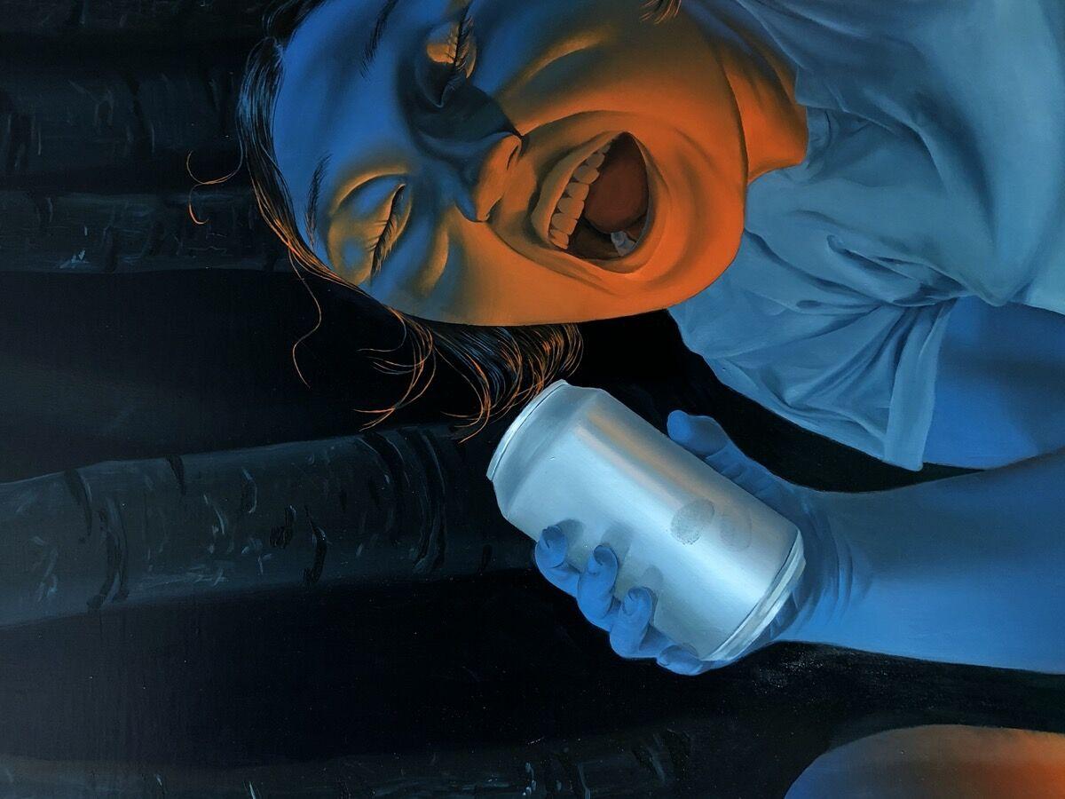 Sasha Gordon, detail of Bonfire, 2020–21. Courtesy of the artist and Matthew Brown Los Angeles.