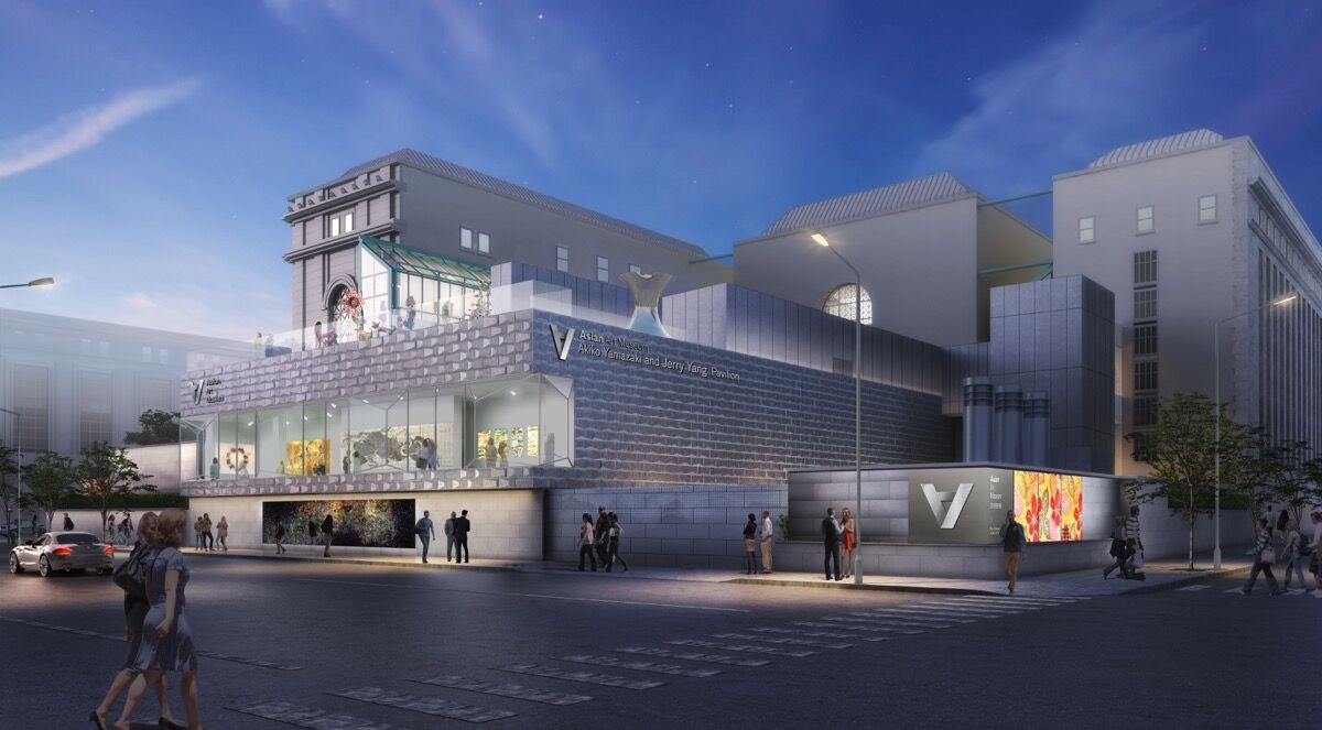 Akiko Yamazaki and Jerry Yang Pavilion rendering of the Asian Art Museum. © Asian Art Museum and wHY Architecture.