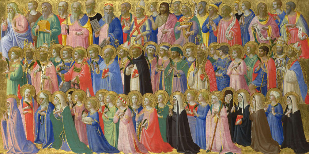 Fra Angelico, The Forerunners of Christ with Saints and Martyrs: Inner Right Predella Panel, 1423-4. Image via The National Gallery, London.