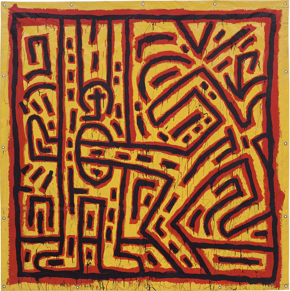 Keith Haring, Untitled, 1981. Sold for £3.2 million ($4.1 million). Courtesy Phillips.