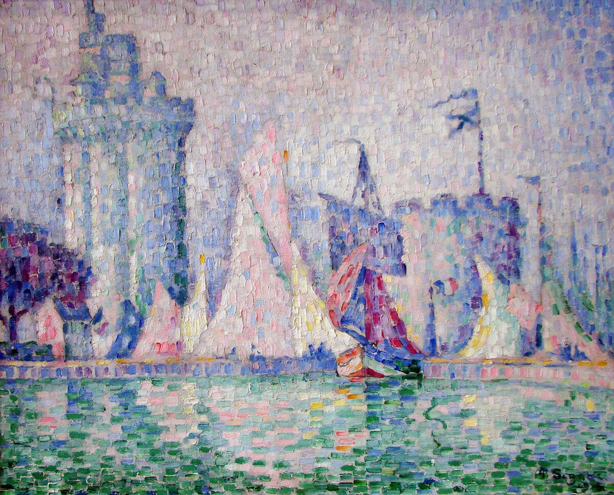 Paul Signac, Le port de la Rochelle, 1915. Musée des Beaux-Arts de Nancy. Via Wikimedia Commons.
