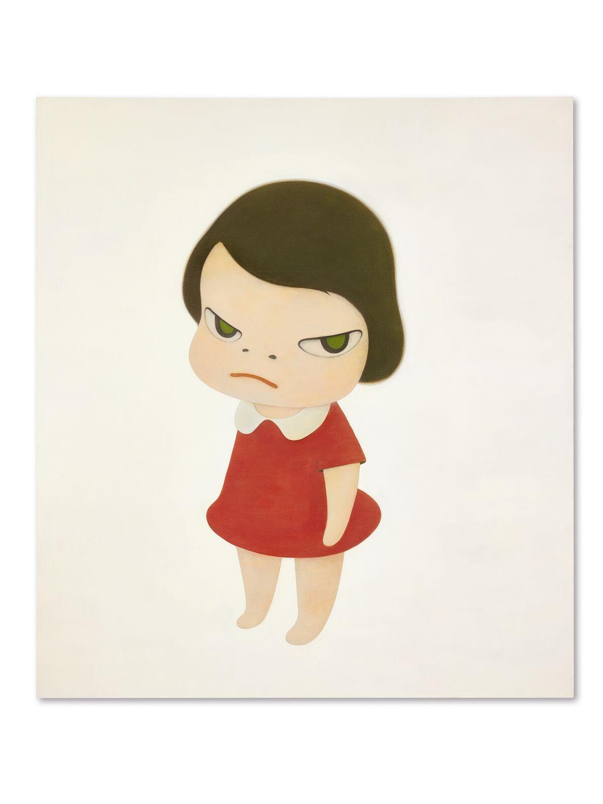 Yoshitomo Nara, Knife Behind Back, 2000. Courtesy Sotheby's.