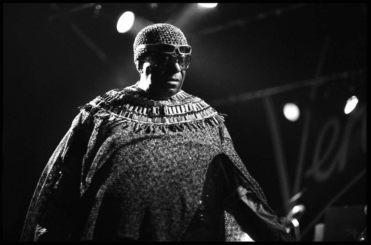 Sun Ra performing in London in 1982. Photo by David Corio/Redferns.