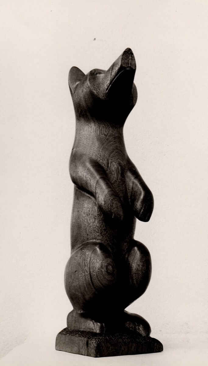 Amanda Crowe woodcarving of a bear. Hunter Library Digital Collections, Western Carolina University. Image courtesy of Qualla Arts and Crafts Mutual, Inc.