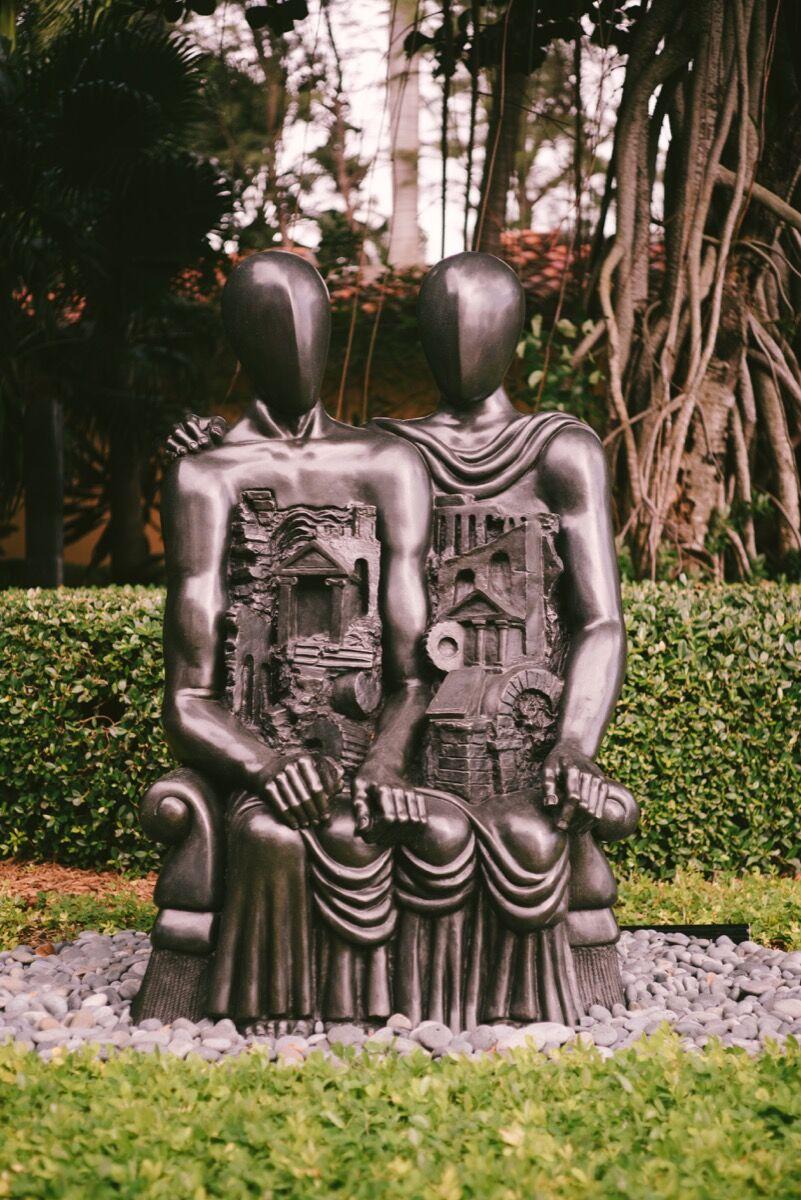 Giorgio de Chirico, Gli Archeologi, 1968 installed at Jorge M. Perez's Miami home. Photo by Gesi Schilling for Artsy.