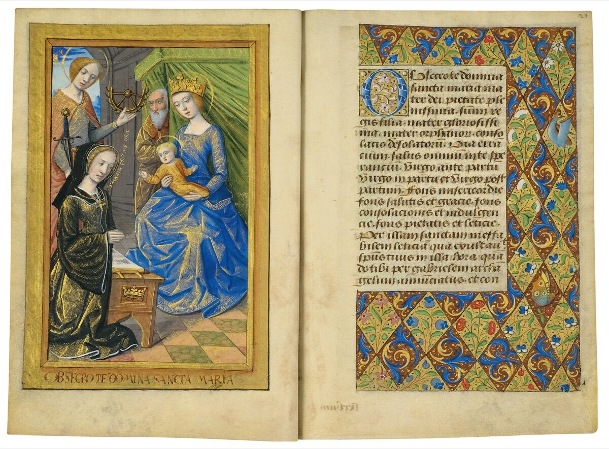 Jean Pichore and the Master of Martainville, Book of Hours, most likely made for Queen Catherine of Aragon , c. 1503–07. Courtesy of Antiquariat Bibermühle.
