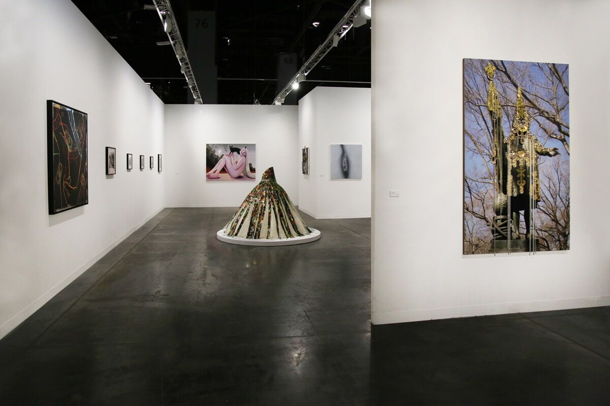 Installation view of P.P.O.W.'s booth at Art Basel in Miami Beach, 2018. Courtesy of P.P.O.W.