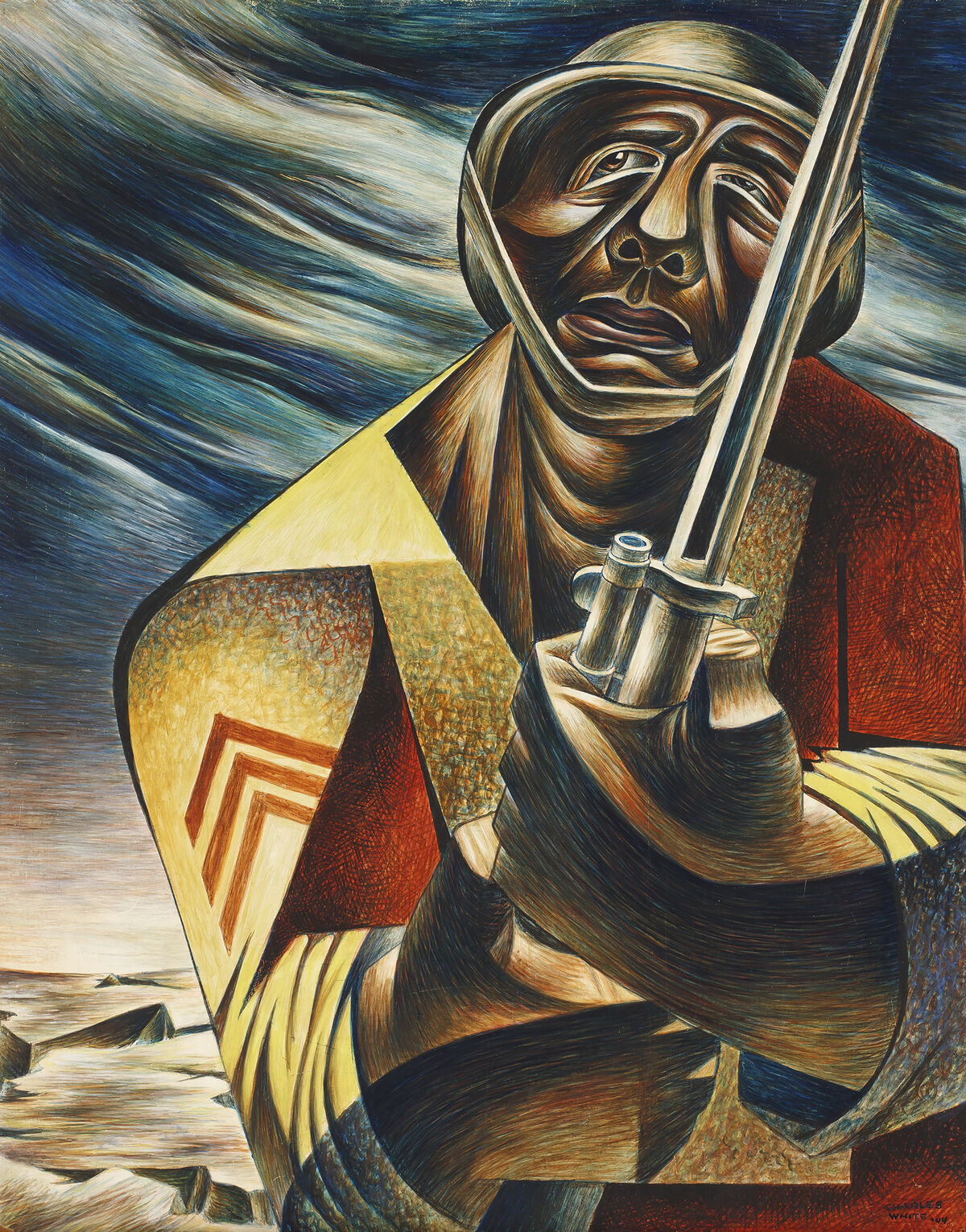 Charles White, Soldier, 1944. © The Charles White Archives. Courtesy of the Huntington Art Collections