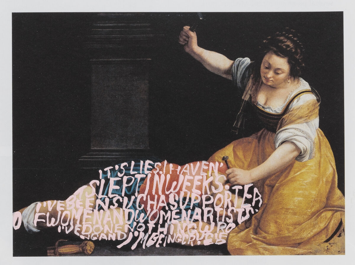 Betty Tompkins, Apologia (Artemisia Gentileschi #3), 2018. Courtesy of Betty Tompkins and P·P·O·W, New York.