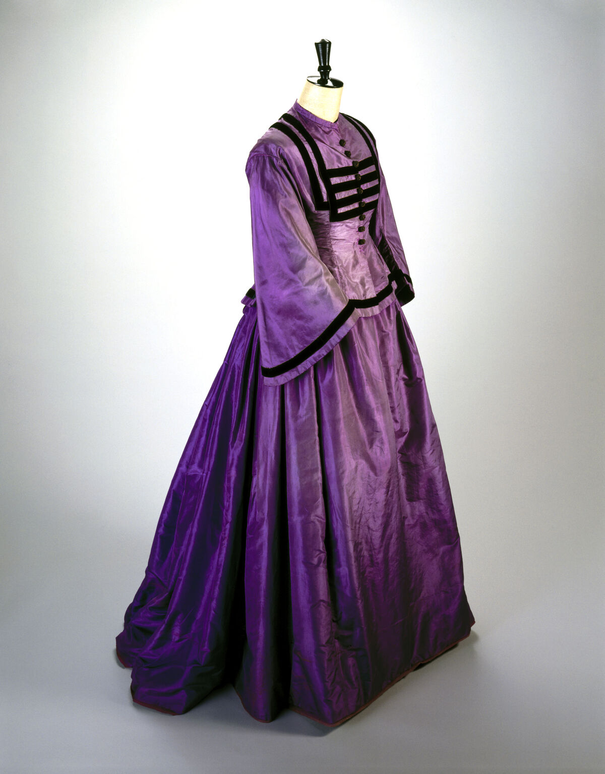 Silk dress dyed with William Henry Perkin's original mauve aniline dye. Photo by SSPL/Getty Images.